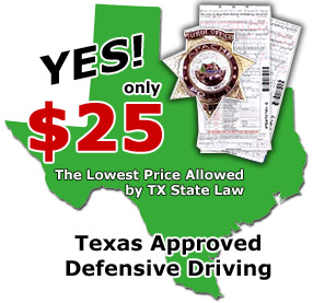 Texas Defensive Driving classes for the lowest price!